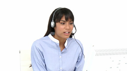 woman working in a call-center