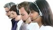 presentation of a multi-ethnic team in a call-center