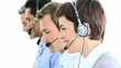 team working in a call-center