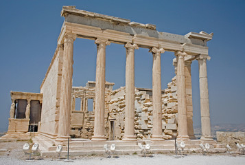 Erechtheum on the Acropolis in Athens