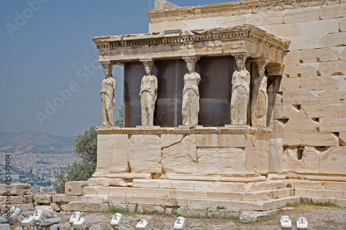 Porch of Caryatids, Erechtheum on Acropolis in Athens