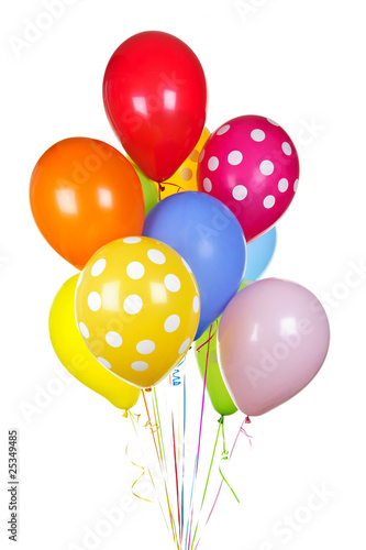 canvas print picture Colorful balloons on white