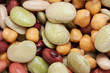 Healthy bean mix background