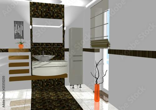 badezimmer braun orange von magda fischer lizenzfreies foto 25350250 auf. Black Bedroom Furniture Sets. Home Design Ideas