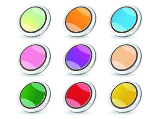 3D Glossy Webdesign Buttons