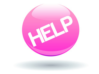 Pink Glossy Help Button