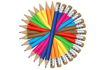 Farandole de crayons de couleur