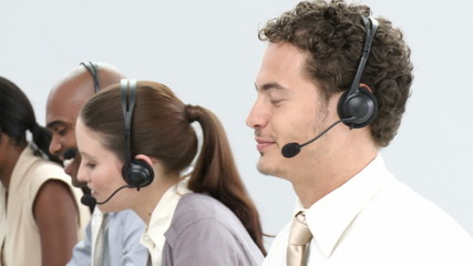 international group in a call-center