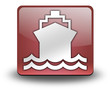 "Red 3D Effect Icon ""Water Transportation / Ship / Boat"""