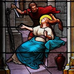 Le martyre de Sainte Eugénie
