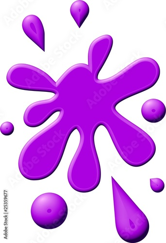 Purple Paint Splodge