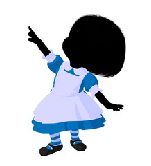 Little Alice In Wonderland Silhouette