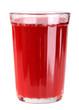 стакан с красным напитком.