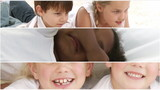 collage of little children having fun