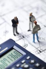 concept hommes d'affaires sur chantier de construction