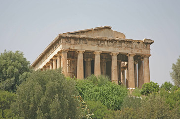 Temple of the Ancient Agora in Athens