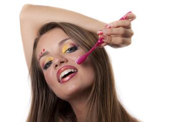 splendido sorriso con spazzolino