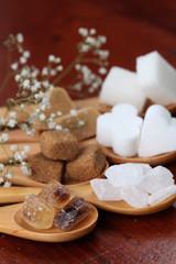 Sugar collection - various kinds of sugar cubes