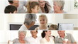 montage showing different generations in a family