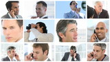 collage of businessmen portraits