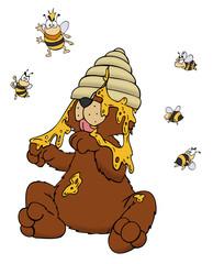 Bär, Honig, Bienen, Bienennest, Bienenkönigin