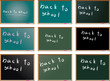 vector set of school blackboards
