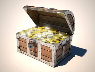 treasure chest 3d illustration