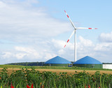 Alternative Energien - Biogas & Windenergie - Fine Art prints