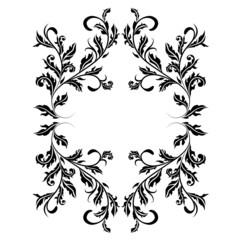 Retro floral design frame