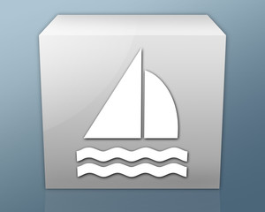 "Box-shaped Icon ""Sailing"""