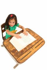 Adorable Girl in Desk