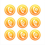 set of 9 orange phone signs