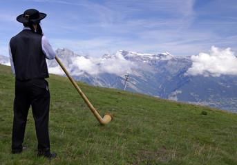 Der Klang des Alphornspieler
