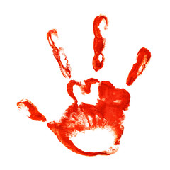Spooky three-fingered hand print