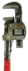 clé à griffes plombier, fond blanc