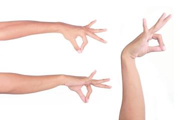 hand pinching