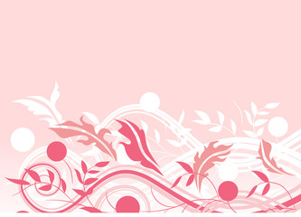 Floral swirl background