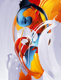 abstract vector graphic, bright background in graffiti - 25389672