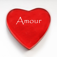 coeur rouge Amour