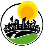 Profilo metropoli stilizzato poster