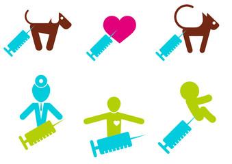 impfung gesundheit heilung zeichen symbol