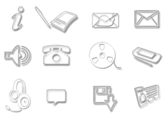 Communication glass icons