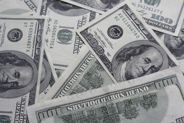 100 dollars denomination closeup. backgrounds
