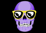 Wayfarer sunglassed skull