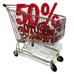 Einkaufswagen Prozente 2