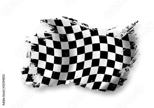 Leinwanddruck Bild Zielflagge