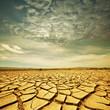 Leinwanddruck Bild - Drought lands