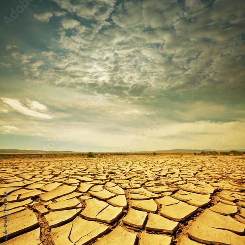 Fotobehang Droogte Drought lands