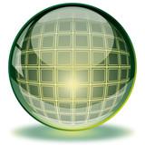 Kristallkugel, Glossy button green