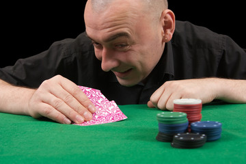 man in casino poker